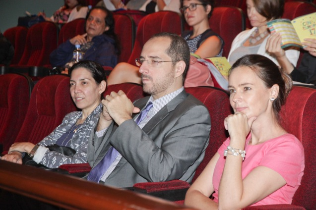 from left: Phil Italian Association officer Cristina Moricca, Inst Cervantes MLA Dir. Dr. Carlos Madrid and Austrian Emb Consular Affairs Lisbeth Strohmeier. Cine Europa will screen the best European movies for free at Shang Cineplex, Shang Rila Plaza from September 11-21, 2014. Photo by Jude Bautista.