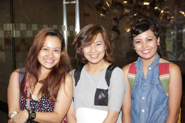 from left: Sheenly Gener, Antonette Go (Jenny) and Lhorvie Nuevo (Letta). PAHIMAKAS SA ISANG AHENTE (DEATH OF A SALESMAN) of Tanghalang Pilipino runs from September 26 to October 19, 2014 at the Tanghalang Huseng Batute Theater, CCP. Photo by Jude Bautista
