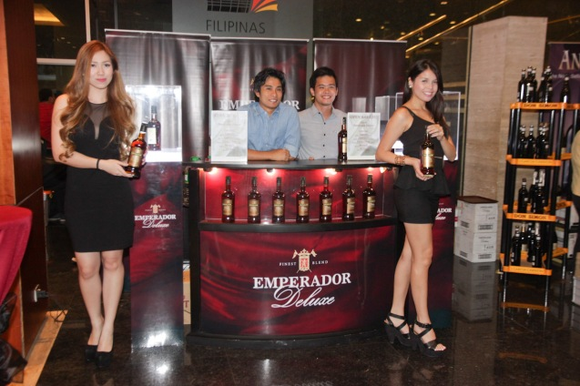 Emperador DE LUXE was made from vineyards in Spain. It is also the official drink of the PELICULA Spanish film festival running from October 9-19, 2014 at the Greenbelt Cinemas. Photo by Jude Bautista