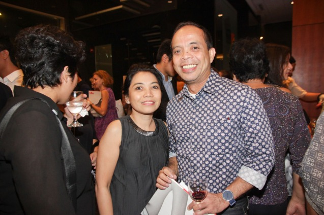 Clarisse Lukban and Cinema One Head Ronald Arguelles. The PELICULA Spanish film festival will run from October 9-19, 2014 at the Greenbelt Cinemas. Photo by Jude Bautista