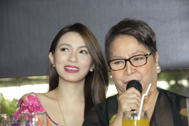 SIGAW SA HATING GABI cast mates Regine Angeles and Vangie Labalan. Catch the HORROR PLUS Film Fest from October 29-Nov.4, 2014 at SM Cinemas. Photo by Jude Bautista