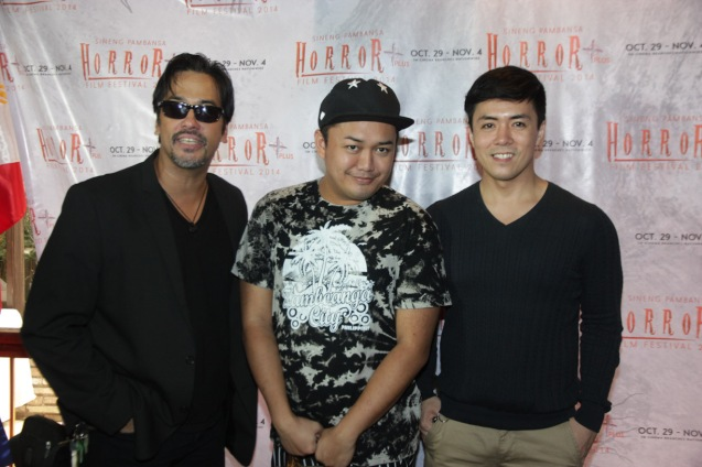 from left: Alvin Anson(SIGAW SA HATINGGABI/BACAO), Shandi Bacolod and Lance Raymundo (SIGAW SA HATINGGABI). Catch the HORROR PLUS Film Fest from October 29-Nov.4, 2014 at SM Cinemas. Photo by Jude Bautista