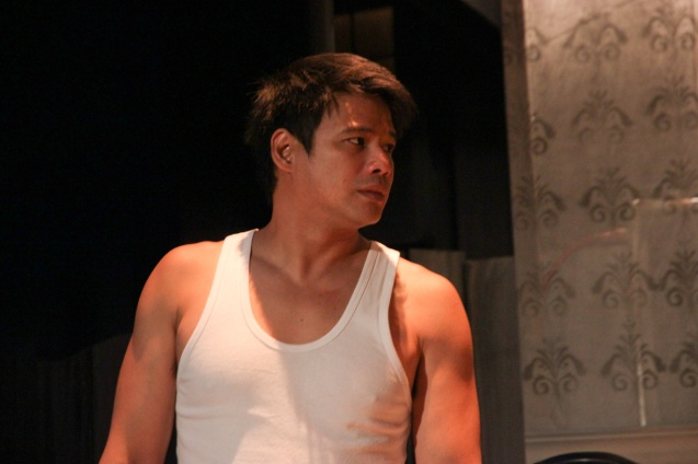 Yul Servo (Biff). PAHIMAKAS SA ISANG AHENTE (DEATH OF A SALESMAN) of Tanghalang Pilipino runs from September 26 to October 19, 2014 at the Tanghalang Huseng Batute Theater, CCP. Photo by Jude Bautista