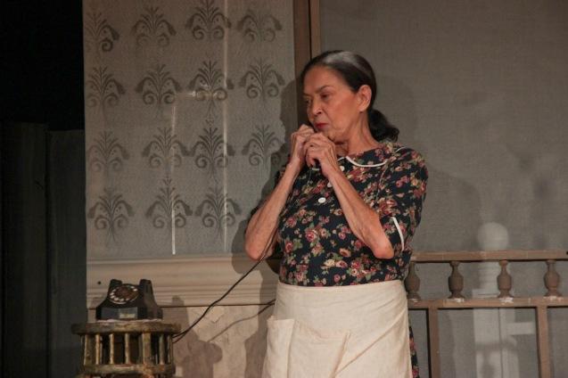 Gina Pareño (Linda). PAHIMAKAS SA ISANG AHENTE (DEATH OF A SALESMAN) of Tanghalang Pilipino runs from September 26 to October 19, 2014 at the Tanghalang Huseng Batute Theater, CCP. Photo by Jude Bautista