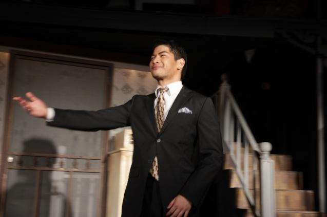 Ricardo Magno (Happy). PAHIMAKAS SA ISANG AHENTE (DEATH OF A SALESMAN) of Tanghalang Pilipino runs from September 26 to October 19, 2014 at the Tanghalang Huseng Batute Theater, CCP. Photo by Jude Bautista