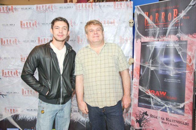 from left: Dave Karell & Gerald Sommerauer. Catch the HORROR PLUS Film Fest from October 29-Nov.14, 2014 at SM Cinemas. Photo by Jude Bautista