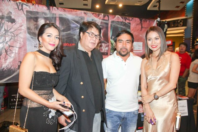 from left: China Roces (Robina), Romy Suzara, Hit composer Lito Camo and Glea Burbano (Fern) of SIGAW SA HATINGGABI. Catch the HORROR PLUS Film Fest from October 29-Nov.14, 2014 at SM Cinemas. Photo by Jude Bautista