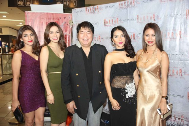 from left: Marga Yabes (Clarissa), Regine Angeles (Salvacion), Romy Suzara, China Roces (Robina) and Glea Burbano (Fern). Catch the HORROR PLUS Film Fest from October 29-Nov.14, 2014 at SM Cinemas. Photo by Jude Bautista