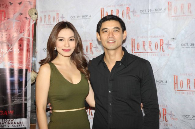 Regine Angeles (Salvacion) and Richard Quan (Albert) are lead stars of SIGAW SA HATINGGABI. Catch the HORROR PLUS Film Fest from October 29-Nov.14, 2014 at SM Cinemas. Photo by Jude Bautista