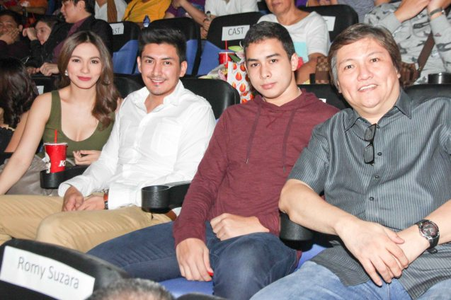 from left: Regine Angeles, Van Leano, Paolo Gumabao & Manny Valera. Catch the HORROR PLUS Film Fest from October 29-Nov.14, 2014 at SM Cinemas. Photo by Jude Bautista