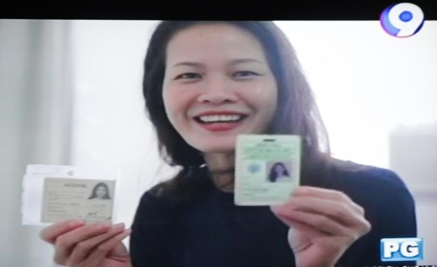 Jo Ann Bitagcol shows her factory IDs from Indo Phil Cotton Mills Inc. Catch the CNN Philippines produced show GOOD COMPANY on 9TV every Sunday 7pm.