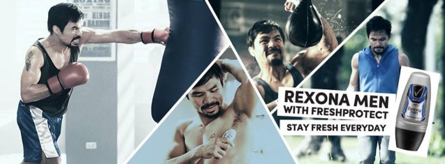 Boxing Icon and PBA coach Manny Pacquiao is also a Rexona endorser—with the latest TVC images here. Photo from official Rexona Philippines facebook