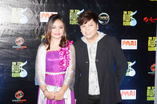 Eurika & Garry Cruz. The 27th Awit Awards was held at the Newport Performing Arts Theater, Resort's World Manila last December 12, 2014. Photo by Jude Bautista