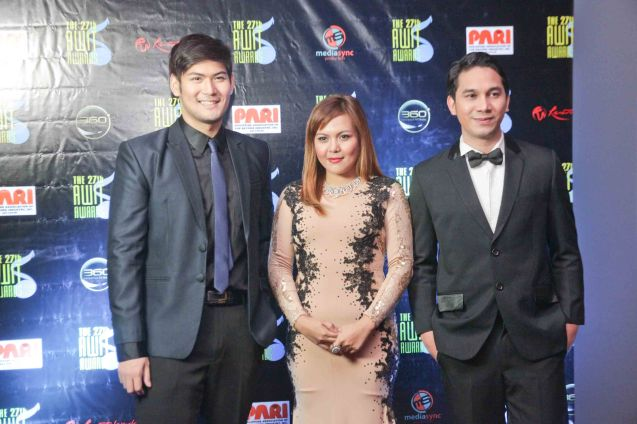 from left: Pinoy Idol finalist Miguel Mendoza. The 27th Awit Awards was held at the Newport Performing Arts Theater, Resort's World Manila last December 12, 2014. Photo by Jude Bautista