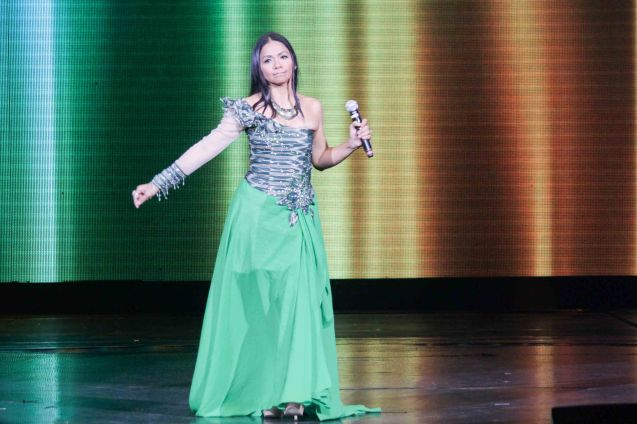 Bayang Barrios; The 27th Awit Awards was held at the Newport Performing Arts Theater, Resort's World Manila last December 12, 2014. Photo by Jude Bautista