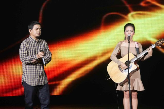 Gloc 9 & Lira Bermudez perform TRIP SILIP. The 27th Awit Awards was held at the Newport Performing Arts Theater, Resort's World Manila last December 12, 2014. Photo by Jude Bautista