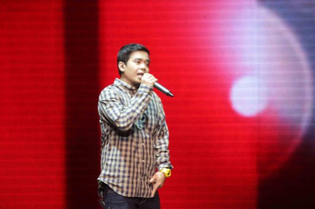 Gloc 9 performed Trip Silip. The 27th Awit Awards was held at the Newport Performing Arts Theater, Resort's World Manila last December 12, 2014. Photo by Jude Bautista