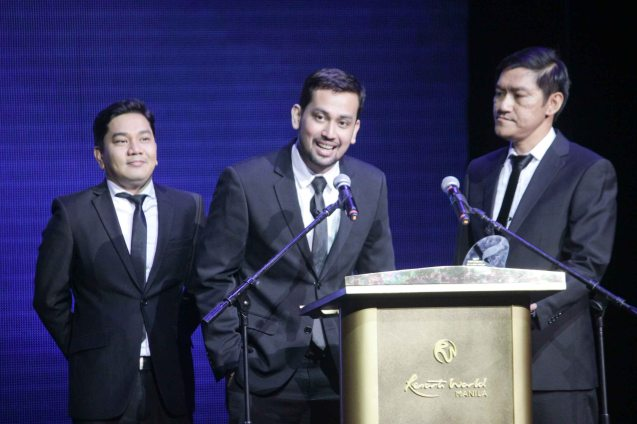 Koro Ilustrado (Waka waka) won Best New Group. The 27th Awit Awards was held at the Newport Performing Arts Theater, Resort's World Manila last December 12, 2014. Photo by Jude Bautista