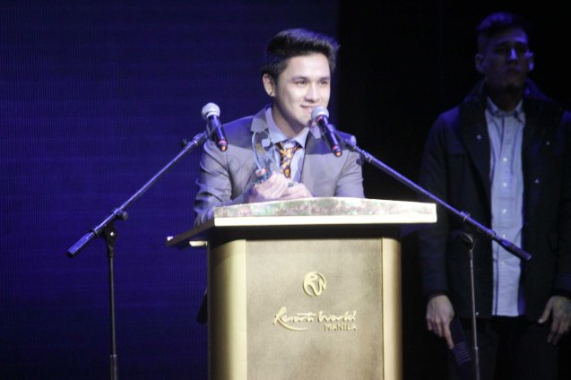 Paolo Onesa's LUCKY IN LOVE earned him Best Performance by a Male Recording Artist and Best Performance by New Male Artist. The 27th Awit Awards was held at the Newport Performing Arts Theater, Resort's World Manila last December 12, 2014. Photo by Jude Bautista