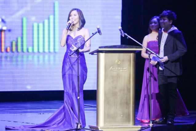 Marion Aunor earned Best New Female Performer. The 27th Awit Awards was held at the Newport Performing Arts Theater, Resort's World Manila last December 12, 2014. Photo by Jude Bautista
