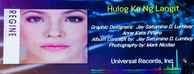 Regine Velasquez Alcasid's album HULOG KA NG LANGIT won Best Album Package. The 27th Awit Awards was held at the Newport Performing Arts Theater, Resort's World Manila last December 12, 2014. Photo by Jude Bautista