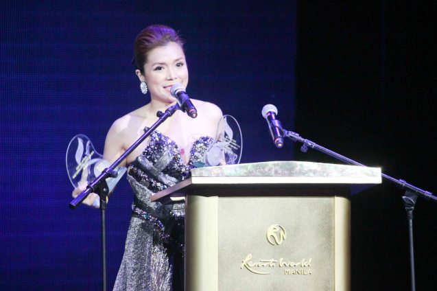 Nina is EGG's allhits.ph Most Downloaded Artist and Most Downloaded song of 2013 DON'T SAY GOODBYE. The 27th Awit Awards was held at the Newport Performing Arts Theater, Resort's World Manila last December 12, 2014. Photo by Jude Bautista