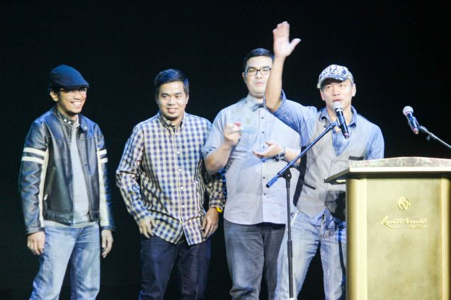 Parokya Ni Edgar won Best Performance by a Group. The 27th Awit Awards was held at the Newport Performing Arts Theater, Resort's World Manila last December 12, 2014. Photo by Jude Bautista