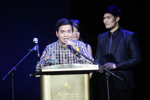 Gloc 9 was the biggest winner: Album of the year (LIHAM AT LIHIM), Song of the Year (MAGDA featuring Rico Blanco), Best Collaboration Performance (MAGDA featuring Rico Blanco) and Best Rap (MAGDA). The 27th Awit Awards was held at the Newport Performing Arts Theater, Resort's World Manila last December 12, 2014. Photo by Jude Bautista