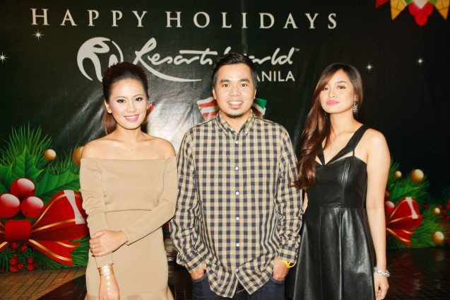 from left: Lira Bermudez, Gloc 9 and Denise Barbacena. Gloc 9 was the biggest winner: Album of the year (LIHAM AT LIHIM), Song of the Year (MAGDA featuring Rico Blanco), Best Collaboration Performance (MAGDA featuring Rico Blanco) and Best Rap (MAGDA). The 27th Awit Awards was held at the Newport Performing Arts Theater, Resort's World Manila last December 12, 2014. Photo by Jude Bautista