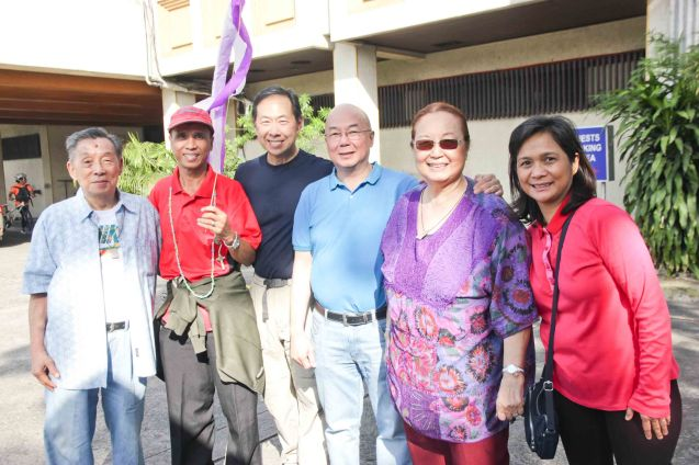 from left: Joe Bautista, Domingo our fave Head waiter in PCA, John Chan, Tim Bautista, Erlinda Bautista and Joy Bautista. Photo taken at Phil Columbian Association last January 16, 2015 by Jude Bautista