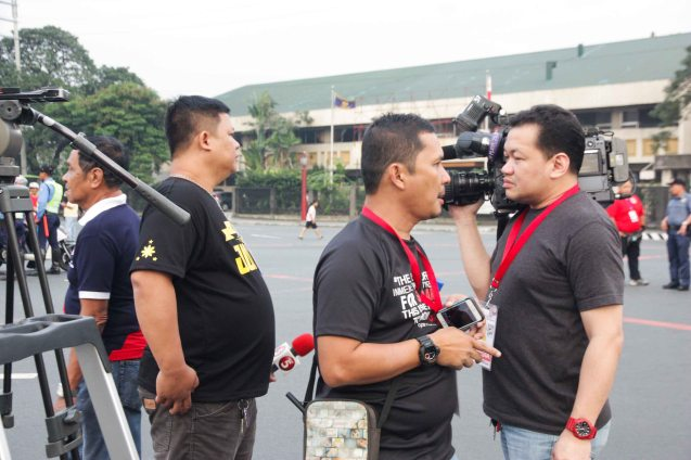 TV5 Crew stakes out scene Quirino Ave, Paco Manila last January 16, 2015. Photo by Jude Bautista
