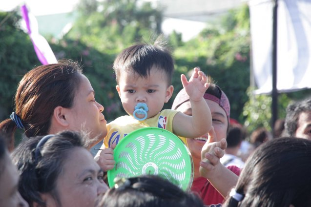 Babies line up waiting for Pope Francis along Quirino Ave, Paco Manila last January 16, 2015. Photo by Jude Bautista