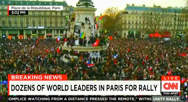 1.3 Million attended the Unity rally in Paris last January 11, 2015.