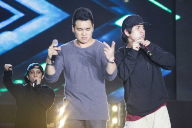 from right: rapper Abra, singer songwriter Thyro and rapper Apex. FUSION the 1st Phil. Music Festival was held January 30, 2015 just 5 days after the Mamasapano Clash. Photo by Jude Bautista