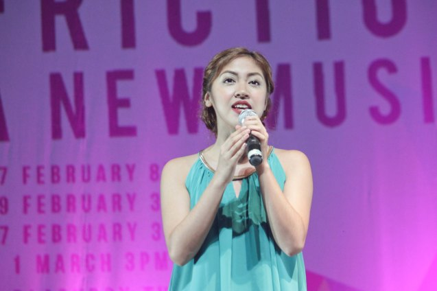 Gabriela Pangilinan of FRICTION: A NEW MUSICAL. FRINGE multi arts festival will run from February 12–March 1, 2015 in CCP, College of St Benilde and many other venues. Photo was taken at the CSB SDA Theater by Jude Bautista.