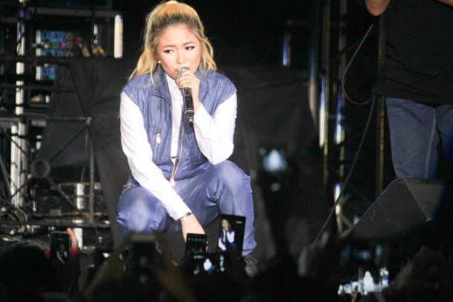 Yeng Constantino; FUSION the 1st Phil. Music Festival was held January 30, 2015 just 5 days after the Mamasapano Clash. Photo by Jude Bautista
