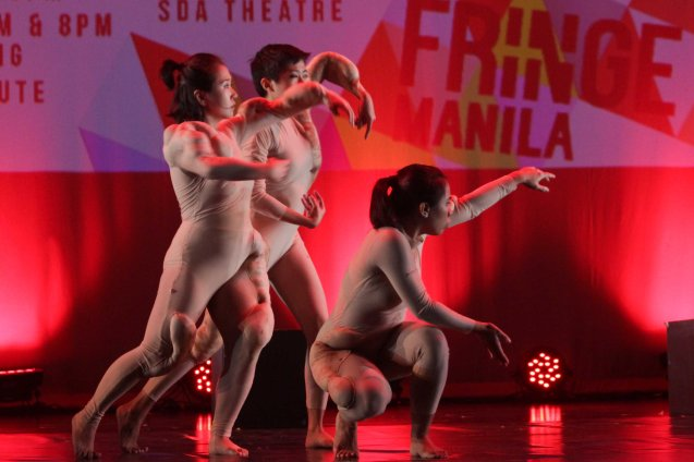 Daloy Dance Company's RECONFIGURE. FRINGE multi arts festival will run from February 12–March 1, 2015 in CCP, College of St Benilde and many other venues. Photo was taken at the CSB SDA Theater by Jude Bautista.