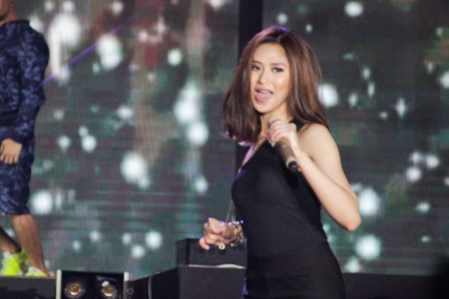The Voice coach Sarah Geronimo. FUSION the 1st Phil. Music Festival was held January 30, 2015 just 5 days after the Mamasapano Clash. Photo by Jude Bautista