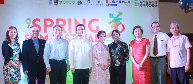 from left: Confucian Inst. Dir Liu Xiao Fang, Ricardo Leong founder of Ricardo Leong Center for Chinese Studies, P.R.O.C Emb. Counselor for Political Affairs Pan Feng, ADMU Pres. Fr. Jett Villarin, Dr. Rosita Leong benefactor- Leong Initiative for Ateneo Internationalization, Shangri La Plaza EVP & Gen Mgr Lala Fojas, Confucius Inst Dir Dr Ellen Palanca, Intl Studies for Chinese Arts Pres George Uy and ADMU Chinese Painting Prof. Ceasar Cheng. Watch THE GRANDMASTER (starring Zhang Zhi Yi&Tony Leung), animation film THE LEGEND OF KUNG FU RABBIT and other Chinese films for free in Spring Film Festival at Shang Cineplex, Shang Rila Plaza Mall from Feb 13-22, 2015. Photo by Jude Bautista
