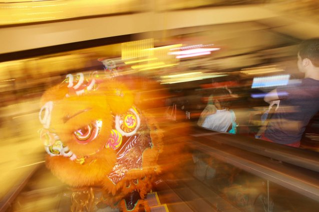There will be a Dragon dance exhibition in Shangri La Plaza mall on February 21, 2015. Photo by Jude Bautista.