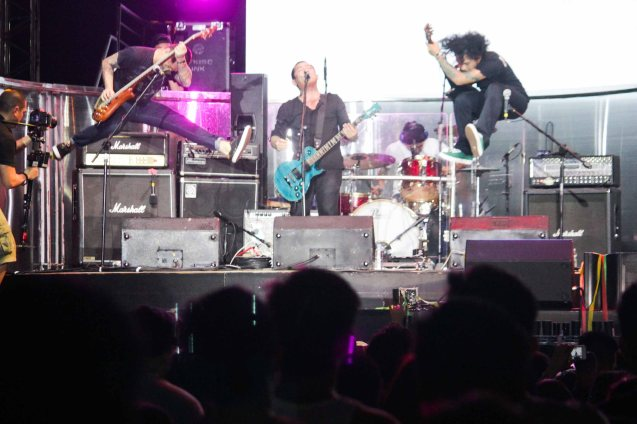 jumpy URBANDUB from left: bass Russell Manaloto, vocalist Gabby Alipe, drums Janjan Mendoza and guitarist John Dinopol. FUSION the 1st Phil. Music Festival was held January 30, 2015 just 5 days after the Mamasapano Clash. Photo by Jude Bautista