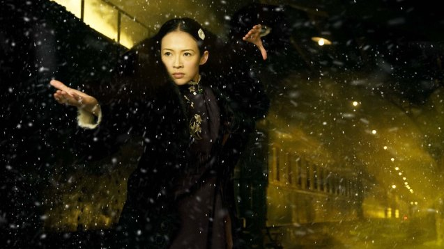 Zhang Zhi Yi (Gong Er) endured negative -200 degrees Celcius weather during shooting and never complained. Watch THE GRANDMASTER, animation film THE LEGEND OF KUNG FU RABBIT and other Chinese films for free in Spring Film Festival at Shang Cineplex, Shang Rila Plaza Mall from Feb 13-22, 2015. Photo by Jude Bautista