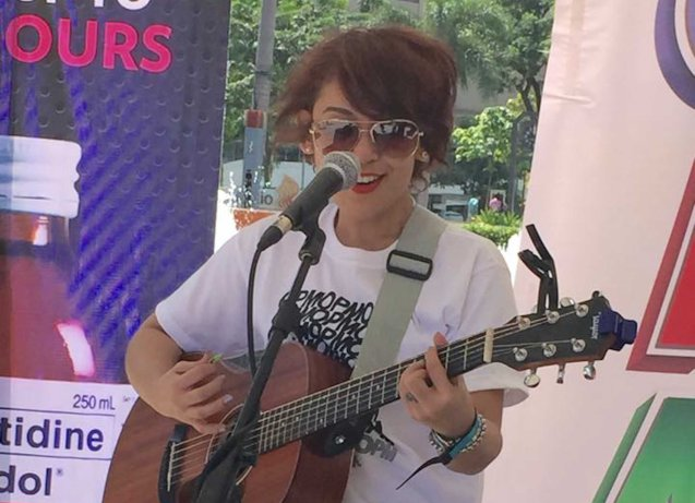 Aia De Leon; Photo from Official OPM facebook page. PALAKASIN ANG OPM COLLAB Sessions first 12-hour OPM festival was held at the Bonifacio High Street Amphitheatre, Bonifacio Global City Taguig last March 14, 2015.