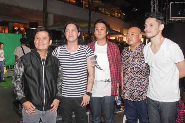 from left: Ogie Alcasid, Raimund Marasigan, Mong Alcaraz, Mike Dizon and Diego Castillo. PALAKASIN ANG OPM COLLAB Sessions first 12-hour OPM festival was held at the Bonifacio High Street Amphitheatre, Bonifacio Global City Taguig last March 14, 2015. Photo by Jude Bautista