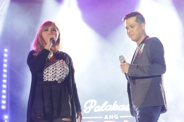 Casper Blancaflor & Ding Dong Avanzado. PALAKASIN ANG OPM COLLAB Sessions first 12-hour OPM festival was held at the Bonifacio High Street Amphitheatre, Bonifacio Global City Taguig last March 14, 2015. Photo by Jude Bautista