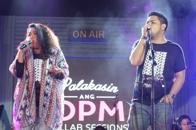 Davey Langit collaborated with Lolita Carbon in the song BALITA. PALAKASIN ANG OPM COLLAB Sessions first 12-hour OPM festival was held at the Bonifacio High Street Amphitheatre, Bonifacio Global City Taguig last March 14, 2015. Photo by Jude Bautista