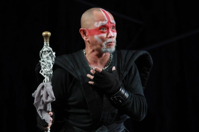 Garry Lim (Gloster); Studio Connection's HARING LEAR can be seen at the CSB SDA Theater from February 27 to March 8, 2015. HARING LEAR is also part of the FRINGE MANILA Multi arts festival. Photo by Jude Bautista
