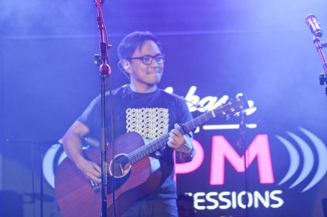 Ebe Dancel; PALAKASIN ANG OPM COLLAB Sessions first 12-hour OPM festival was held at the Bonifacio High Street Amphitheatre, Bonifacio Global City Taguig last March 14, 2015. Photo by Jude Bautista
