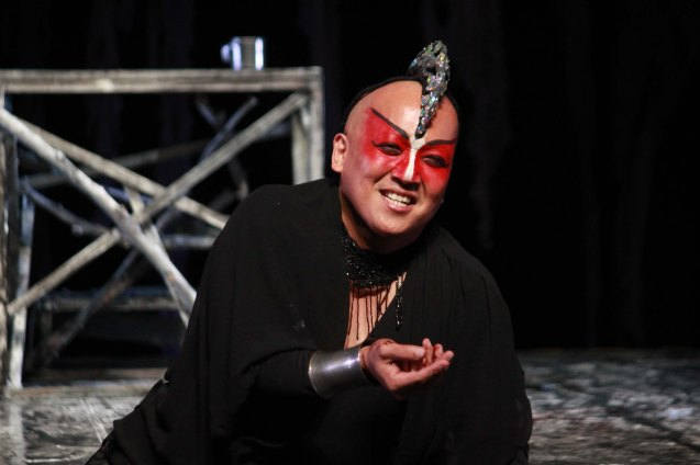 George de Jesus III (Regan); Studio Connection's HARING LEAR can be seen at the CSB SDA Theater from February 27 to March 8, 2015. HARING LEAR is also part of the FRINGE MANILA Multi arts festival. Photo by Jude Bautista