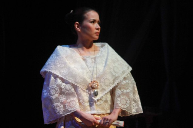 LJ Reyes (Señora Teresa); Tanghalang Pilipino's adaptation of DANGEROUS LIAISONS—JUEGO DE PELIGRO at CCP was a huge hit watch out for its next run; Costumes by James Reyes. Photo by Jude Bautista